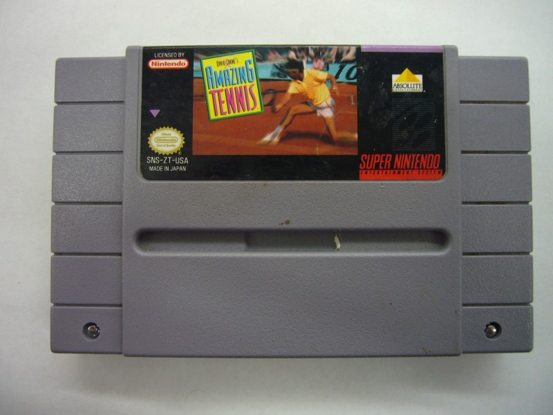 NINTENDO SNES Game DAVID CRANE'S AMAZING TENNIS *CARTRIDGE ONLY*