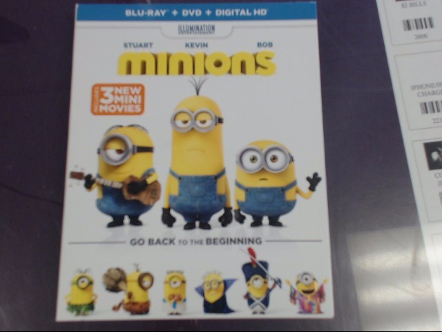MINIONS (BLU-RAY/DVD, 2015, 2-DISC SET) *PLEASE READ*