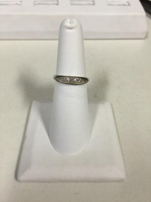 Lady's Diamond Wedding Band 7 Diamonds .23 Carat T.W. 14K White Gold 1.9g
