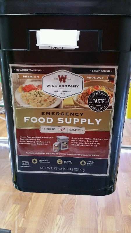 WISE FOOD Outdoor Sports 52 SERVINGS FOOD SUPPLY