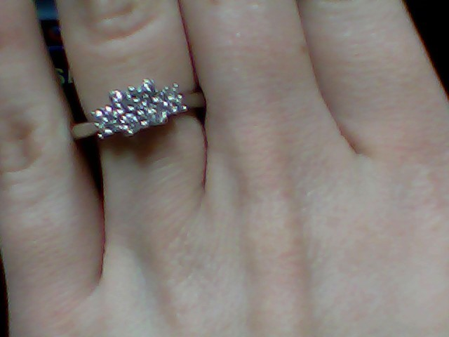 Lady's Diamond Cluster Ring 12 Diamonds .40 Carat T.W. 10K Yellow Gold 2.4g