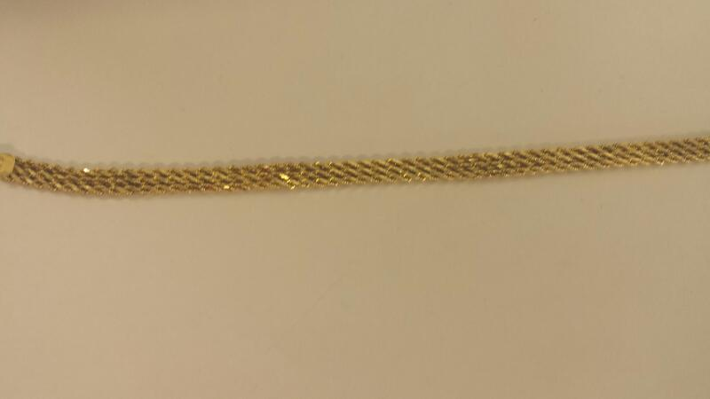 Gold Rope Bracelet 14K Yellow Gold 4.5dwt