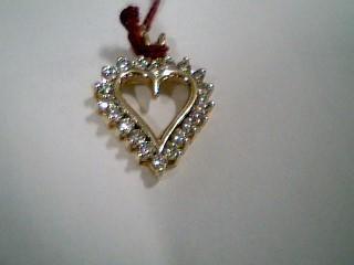 Gold-Multi-Diamond Pendant 20 Diamonds .60 Carat T.W. 10K Yellow Gold 3.1g