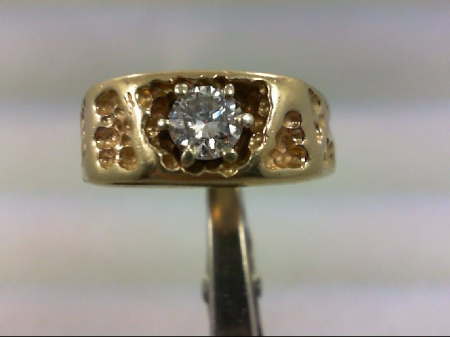 Gent's Diamond Solitaire Ring .65 CT. 14K Yellow Gold 11.37g