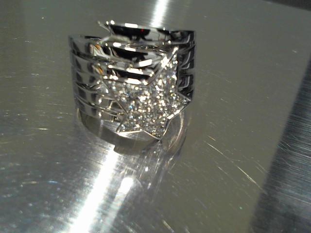 Lady's Diamond Fashion Ring 15 Diamonds .60 Carat T.W. 18K White Gold 14.2g