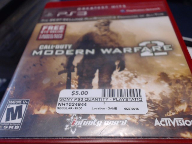 SONY PS3 COD MODERN WARFARE 2