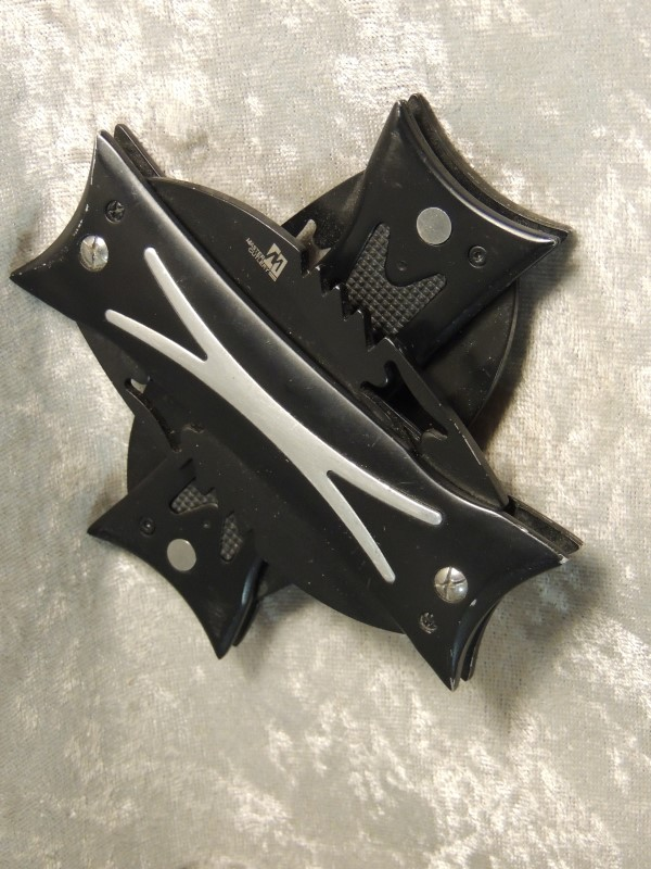 MASTER CUTLERY DOUBLE KNIFE FOUR QUAD BLADE