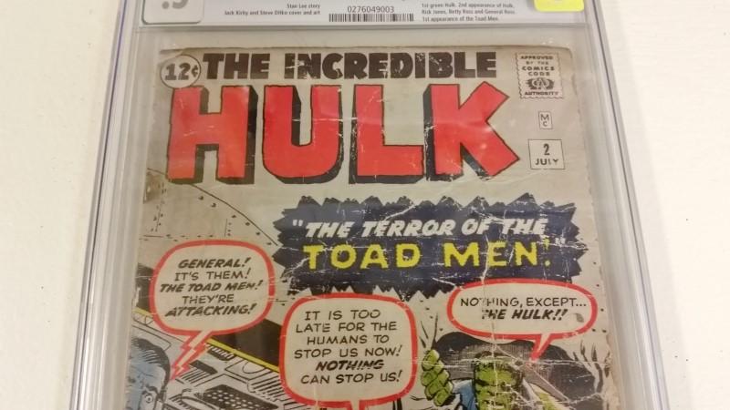 The Incredible Hulk #2 Jul 1962 CGC .5 TOAD MEN First Green Hulk 12c