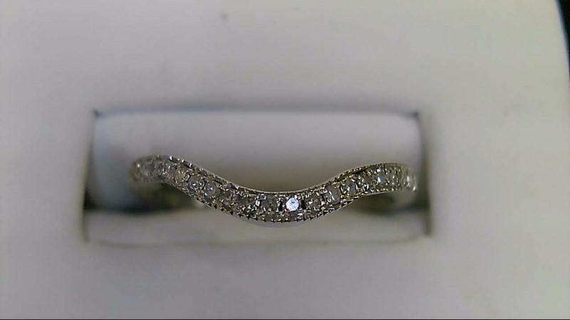 Round Brilliant Cut Diamond 14k White Gold Anniversary Ring WG