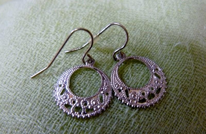 Silver Earrings 925 Silver 0.5dwt