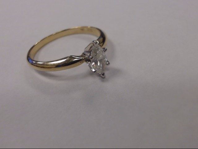 Lady's Diamond Solitaire Ring .47 CT. 14K Yellow Gold 1.6dwt