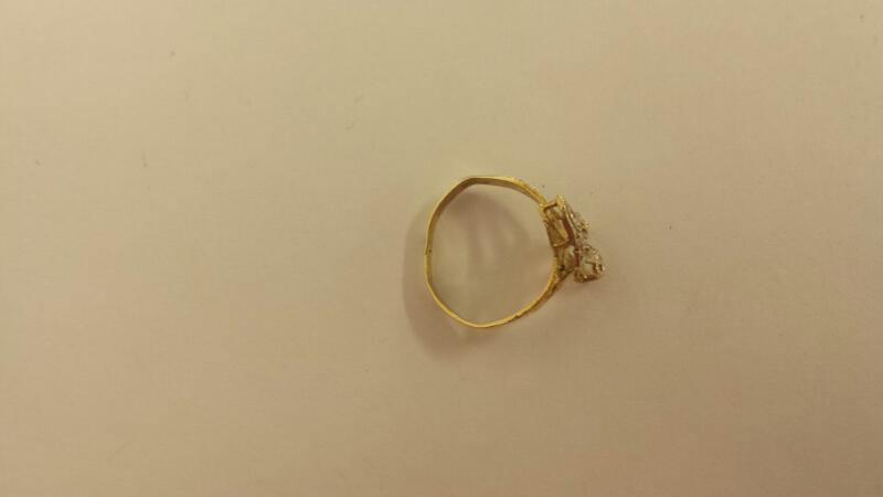 Lady's Gold Ring 10K Yellow Gold 0.9dwt Size:6