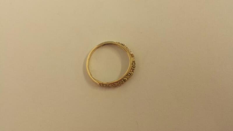 Yellow Stone Lady's Stone Ring 14K Yellow Gold 0.7dwt Size:6