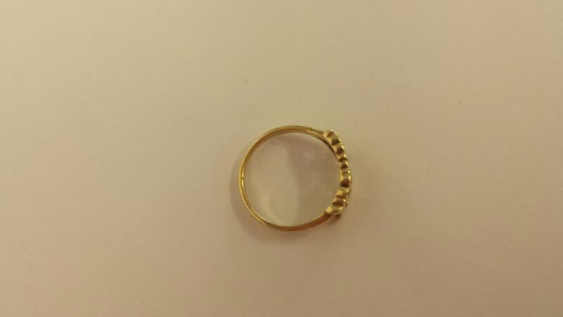 Lady's Diamond Solitaire Ring .01 CT. 10K Yellow Gold 1.3dwt Size:6