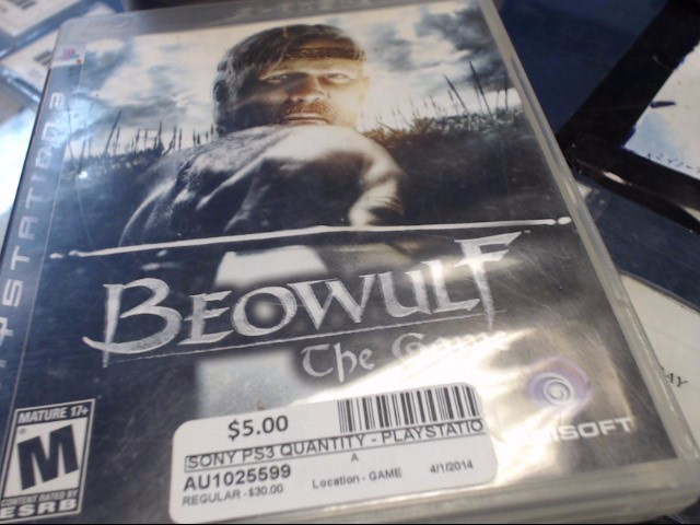 SONY PS3 BEOWULF THE GAME
