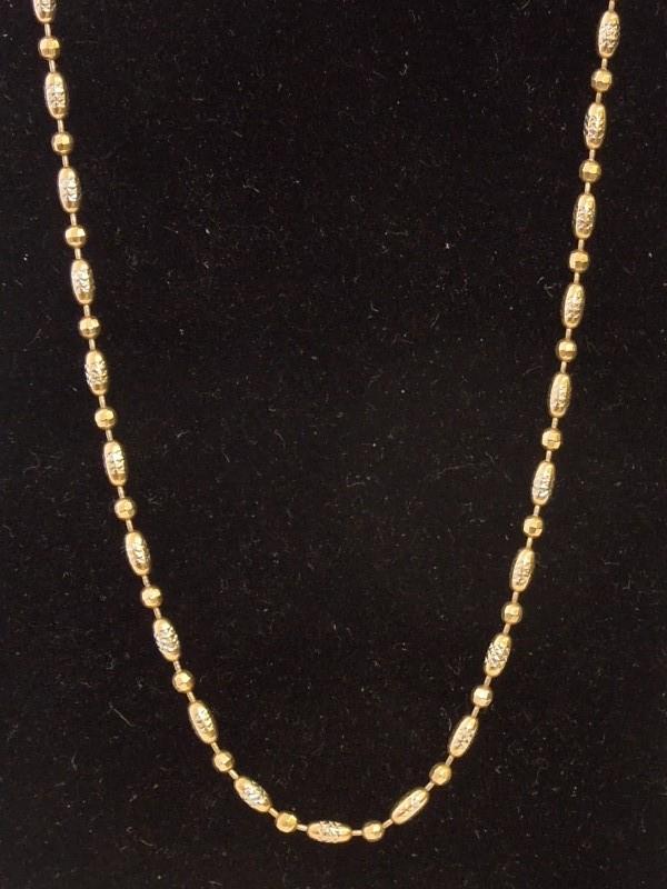 "20"" Gold Fashion Chain 14K Yellow Gold 7.2g"