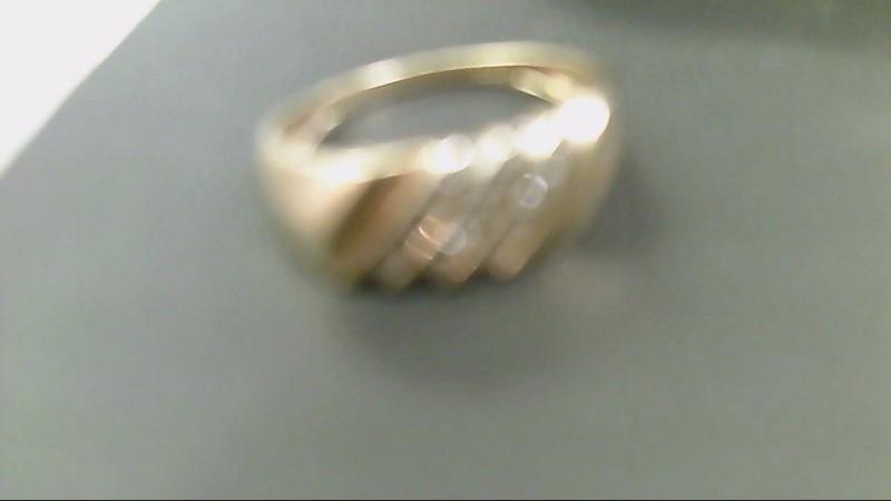 Gent's Diamond Cluster Ring 16 Diamonds .80 Carat T.W. 10K Yellow Gold 2.7g