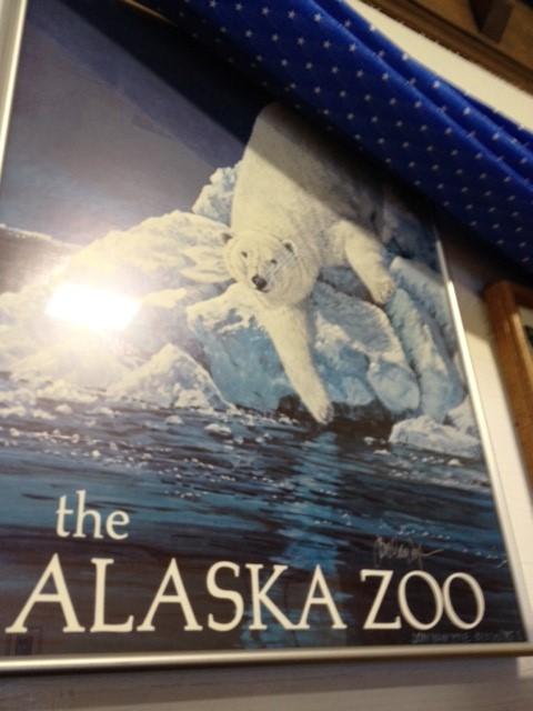 ALASKA ZOO PRINT BY JOHN VAN ZYLE SIGNED 1985