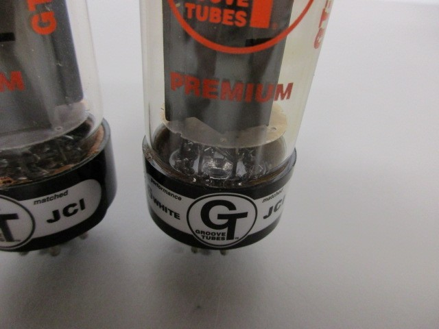 TWO (2) GROOVE TUBES EL-34 POWER TUBES, TEST GOOD.