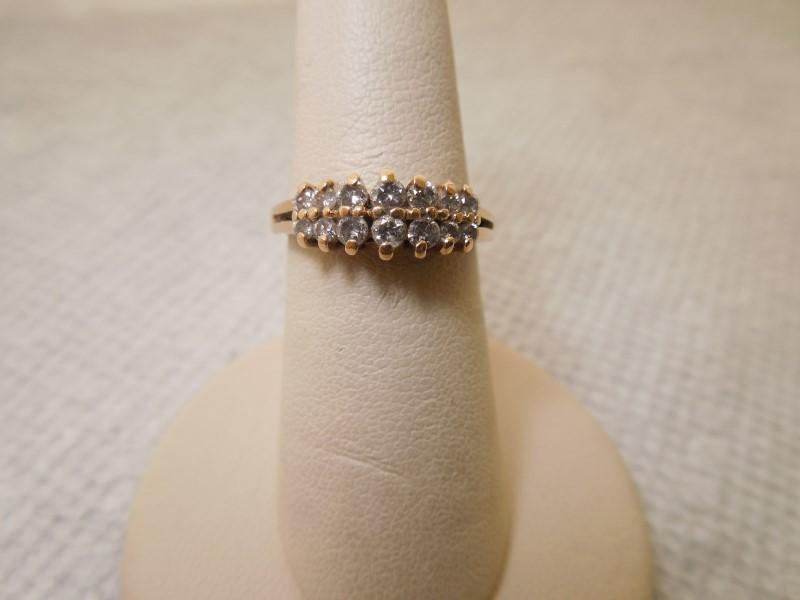 Lady's Diamond Fashion Ring 14 Diamonds .54 Carat T.W. 14K Yellow Gold 2.9g