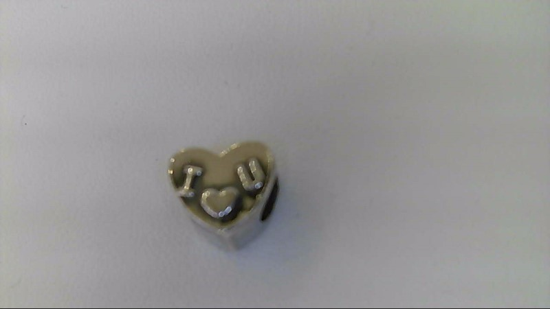 Silver Charm 925 Silver 2.6g charmed memories i love you heart charm