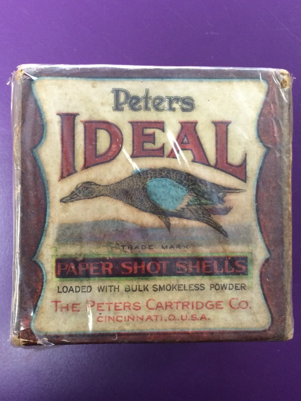 The Peters Cartridge Co. - Ideal Paper Shot Shells - Vintage - 20 GA. - Full box