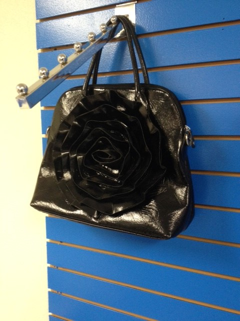 BIG BUDDHA BLACK FLOWER PURSE
