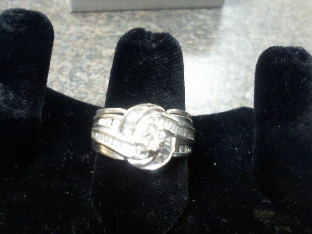 Lady's Diamond Wedding Set 43 Diamonds 2.80 Carat T.W. 10K White Gold 7.6g