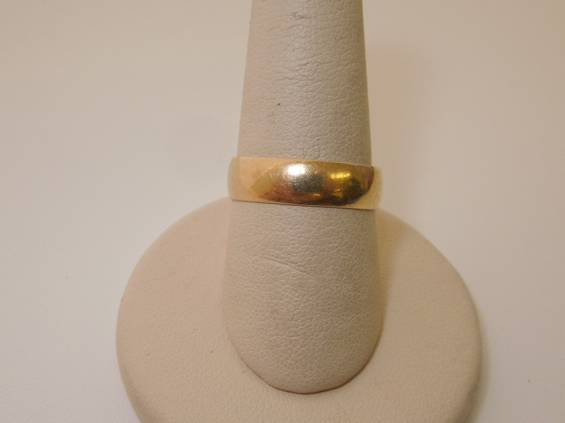 Gent's Gold Wedding Band 14K Yellow Gold 1.8g Size:9.5