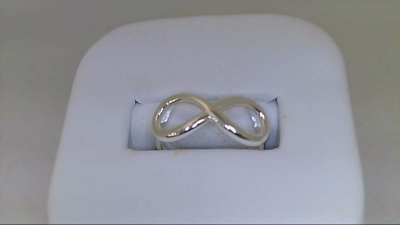 Lady's Silver Ring 925 Silver 2.26g SZ6 INFINITY RING