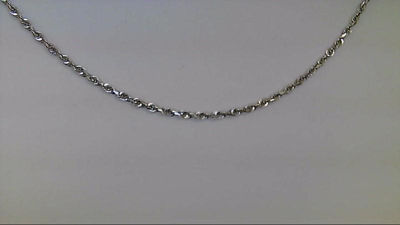Gold Rope Chain 10K White Gold 3.23g