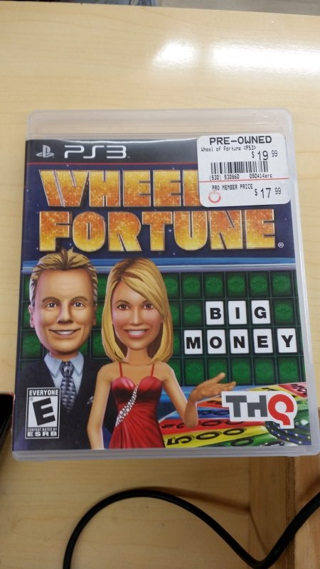 SONY Sony PlayStation 3 Game WHEEL OF FORTUNE