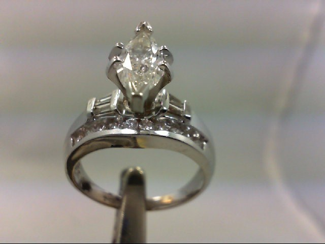 Lady's Diamond Wedding Band 25 Diamonds 1.75Carat T.W. 14K White Gold 5.06g