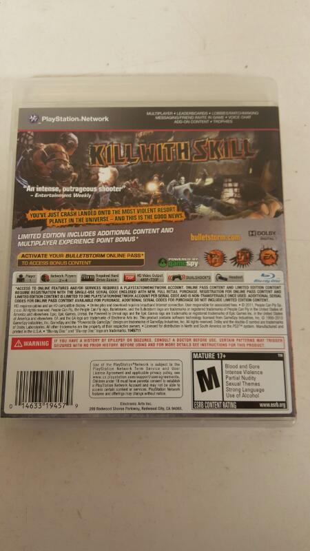 Bulletstorm -- Limited Edition (Sony PS3, 2011)