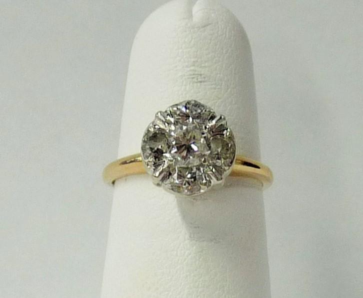 Lady's Diamond Engagement Ring 5 Diamonds .65 Carat T.W. 14K Yellow Gold