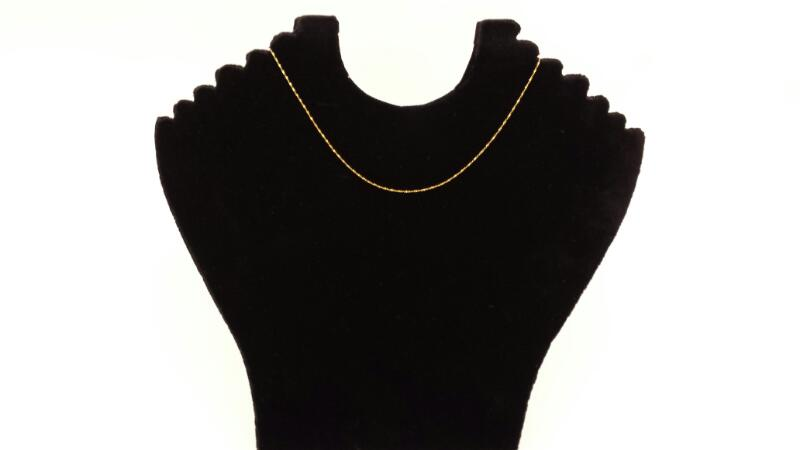 "18k 14.5"" Yellow Gold Fine Chain"