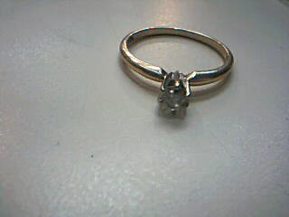 Lady's Diamond Solitaire Ring .23 CT. 14K Yellow Gold 1.8g
