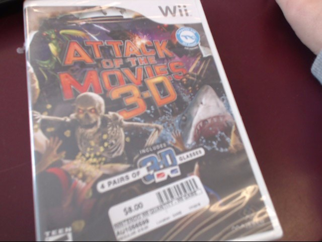 WII ATTACK OF THE MOVIES 3D