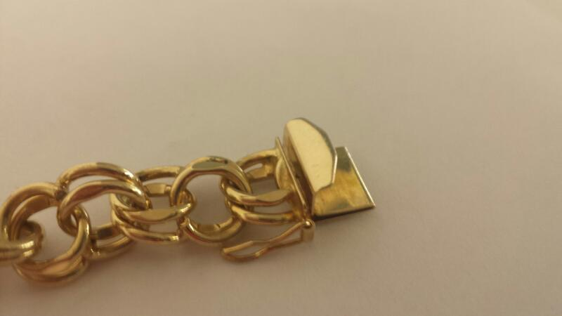 LDS 14KT Gold Fashion Bracelet CURB LINK 14K Yellow Gold 21.6dwt