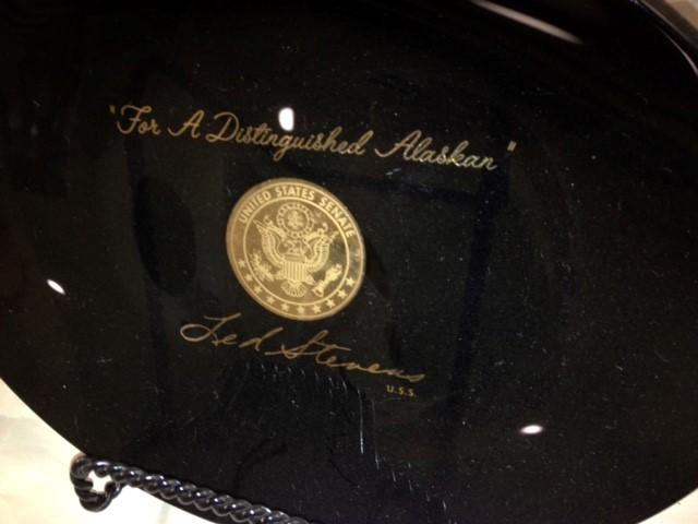 TED STEVENS-DISTINQUISHED ALASKAN PLATE