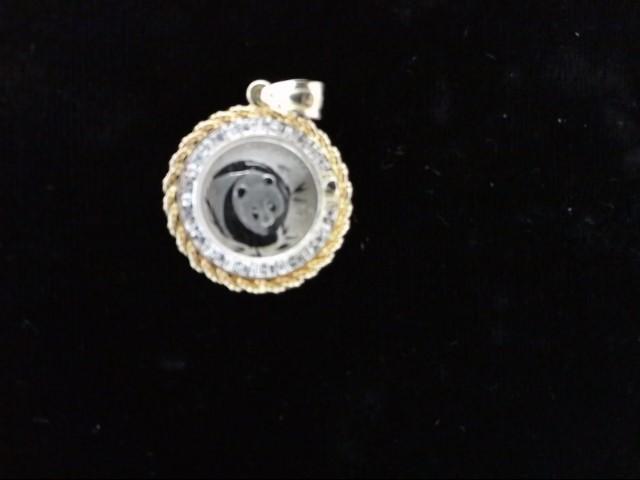 Platinum-Multi-Diamond Pendant 12 Diamonds .12 Carat T.W. 999 Platinum 4.5g