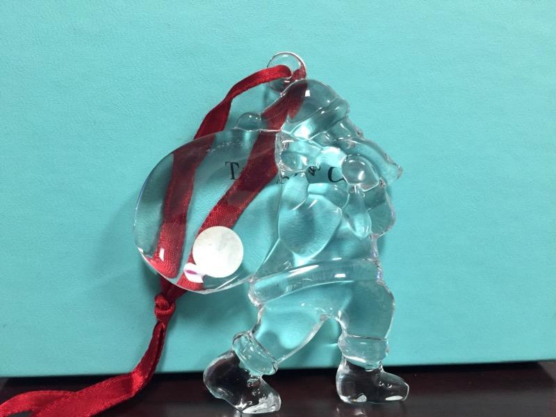 TIFFANY & CO Glass/Pottery GLASS SANTA ORNAMENT