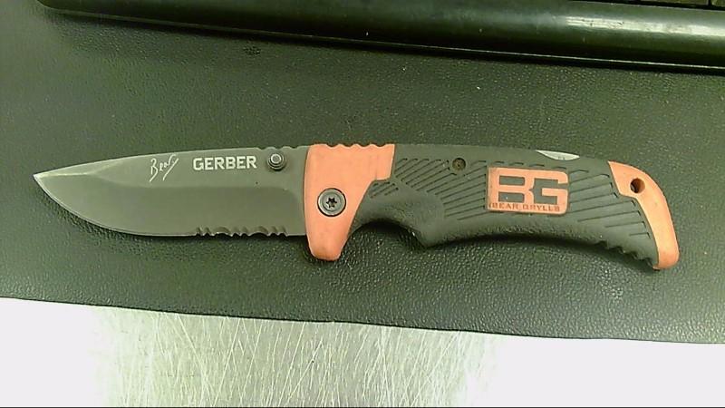 GERBER POCKET KNIFE BEAR GRYLLS FOLDING SERRATED