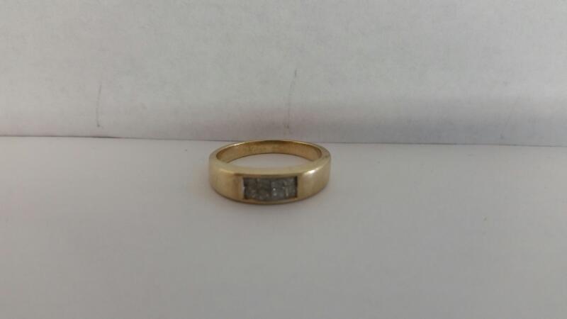 Lady's Diamond Wedding Band 8 Diamonds .24 Carat T.W. 14K Yellow Gold 2.5dwt