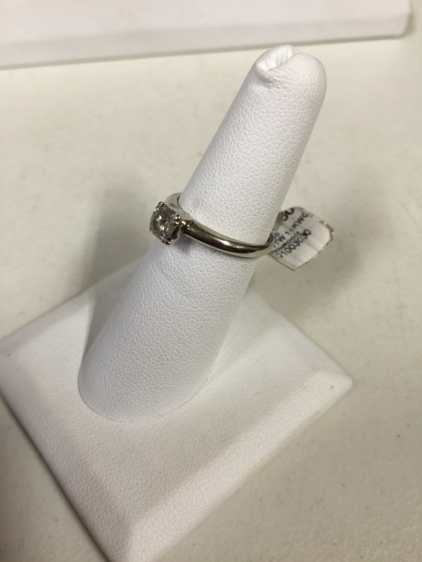 Lady's Diamond Solitaire Ring .50 CT. 14K White Gold 2.3g