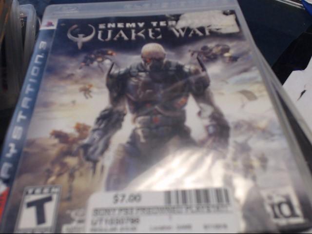SONY PS3 QUAKE WAR