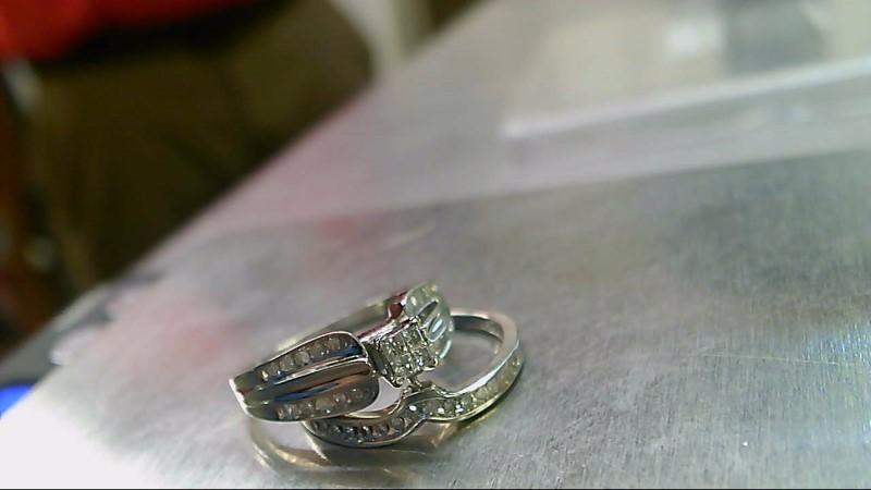 Lady's Diamond Wedding Set 38 Diamonds .39 Carat T.W. 10K White Gold 4.05g