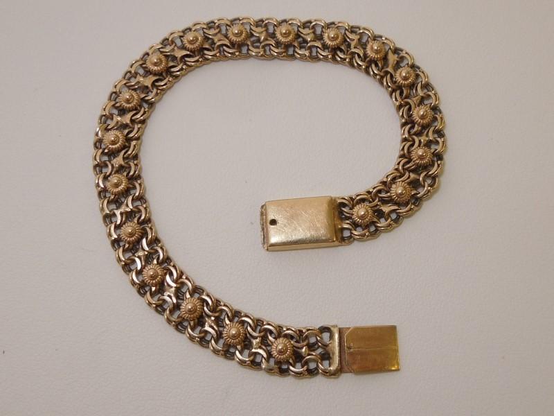 Gold Bracelet 10K Yellow Gold 12.2g