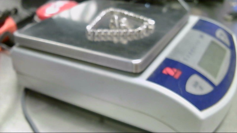 Lady's Silver-Diamond Ring 10 Diamonds .10 Carat T.W. 925 Silver 6g
