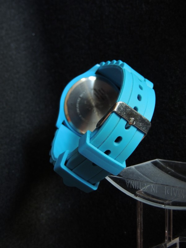 XOXO Crystal Accent Rubber Strap Watch Xo3253 Turquoise Rubber